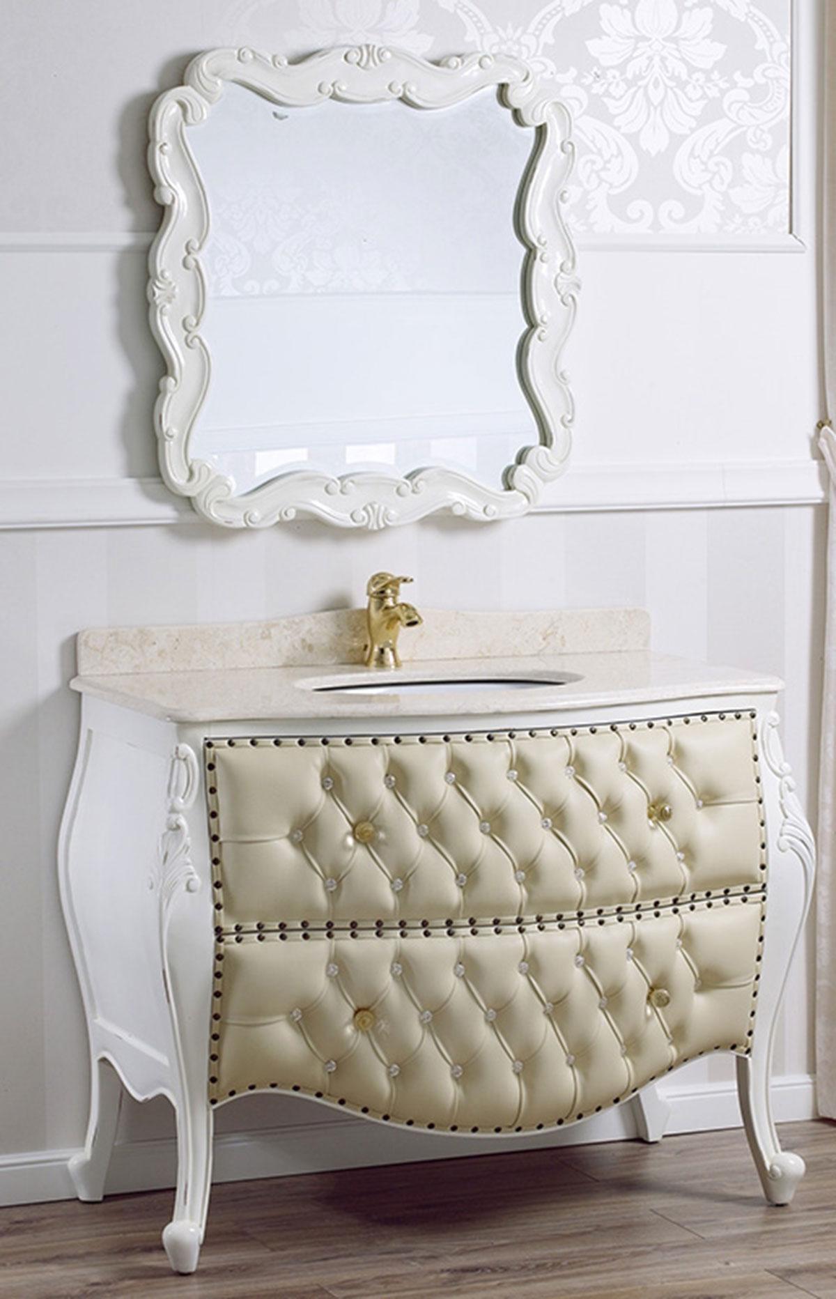 Como e specchio ramirez stile shabby chic arredo bagno bombato bianco anticato m ebay - Arredo bagno stile shabby ...