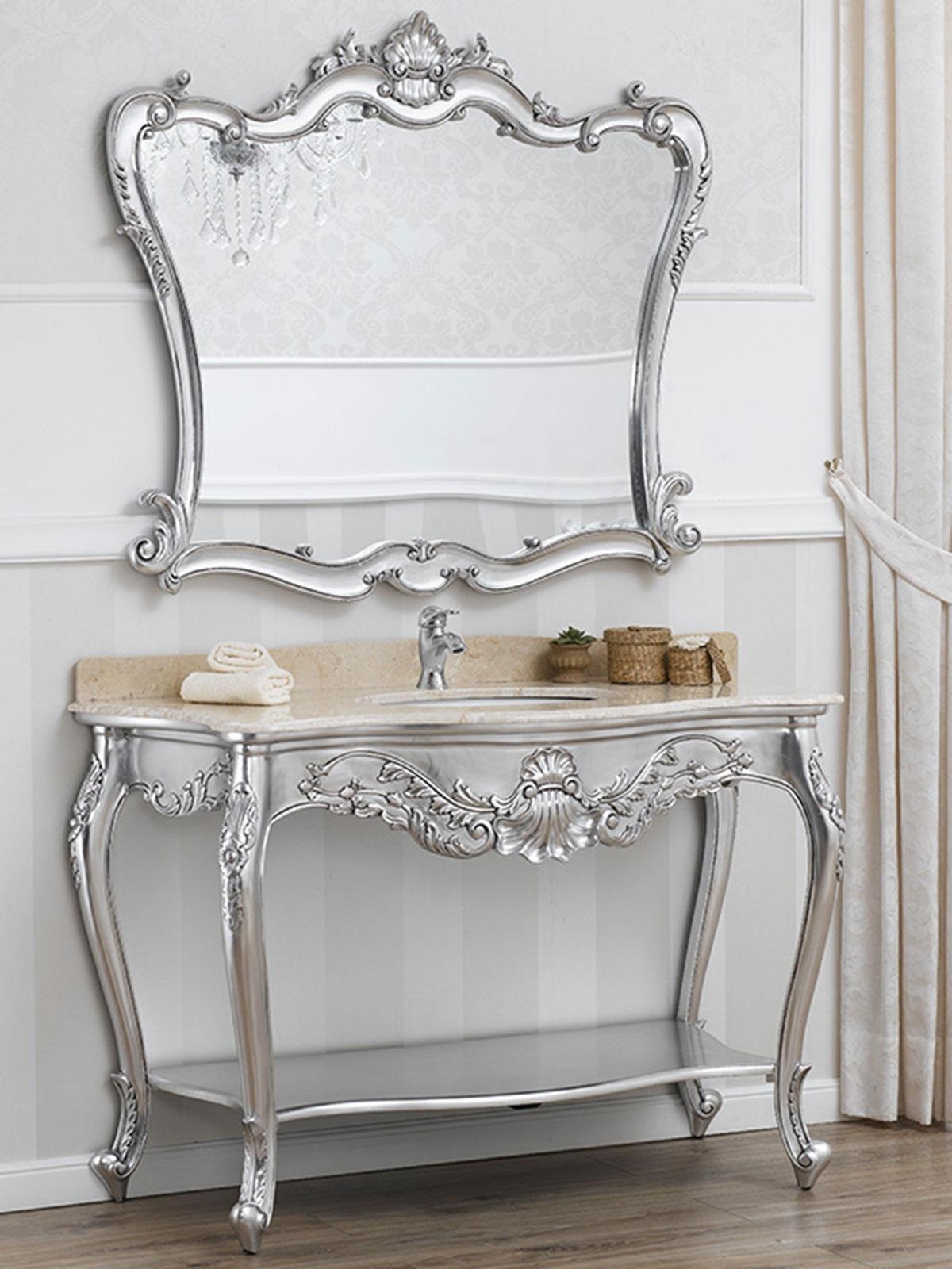 Consolle e specchio eleonor stile barocco moderno arredo for Arredamento stile barocco moderno