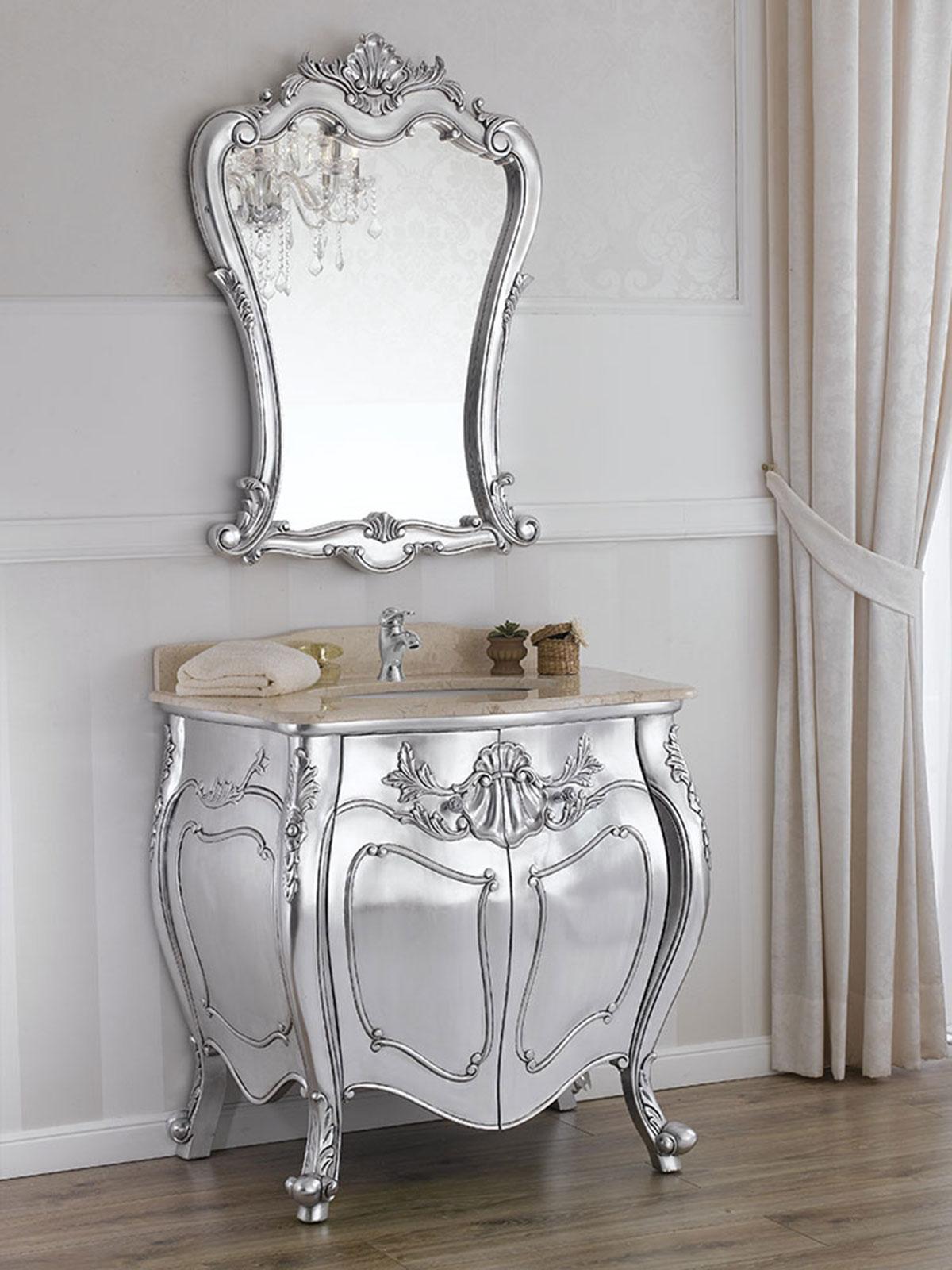 Como e specchio anderson stile barocco moderno arredo for Arredo bagno provincia como