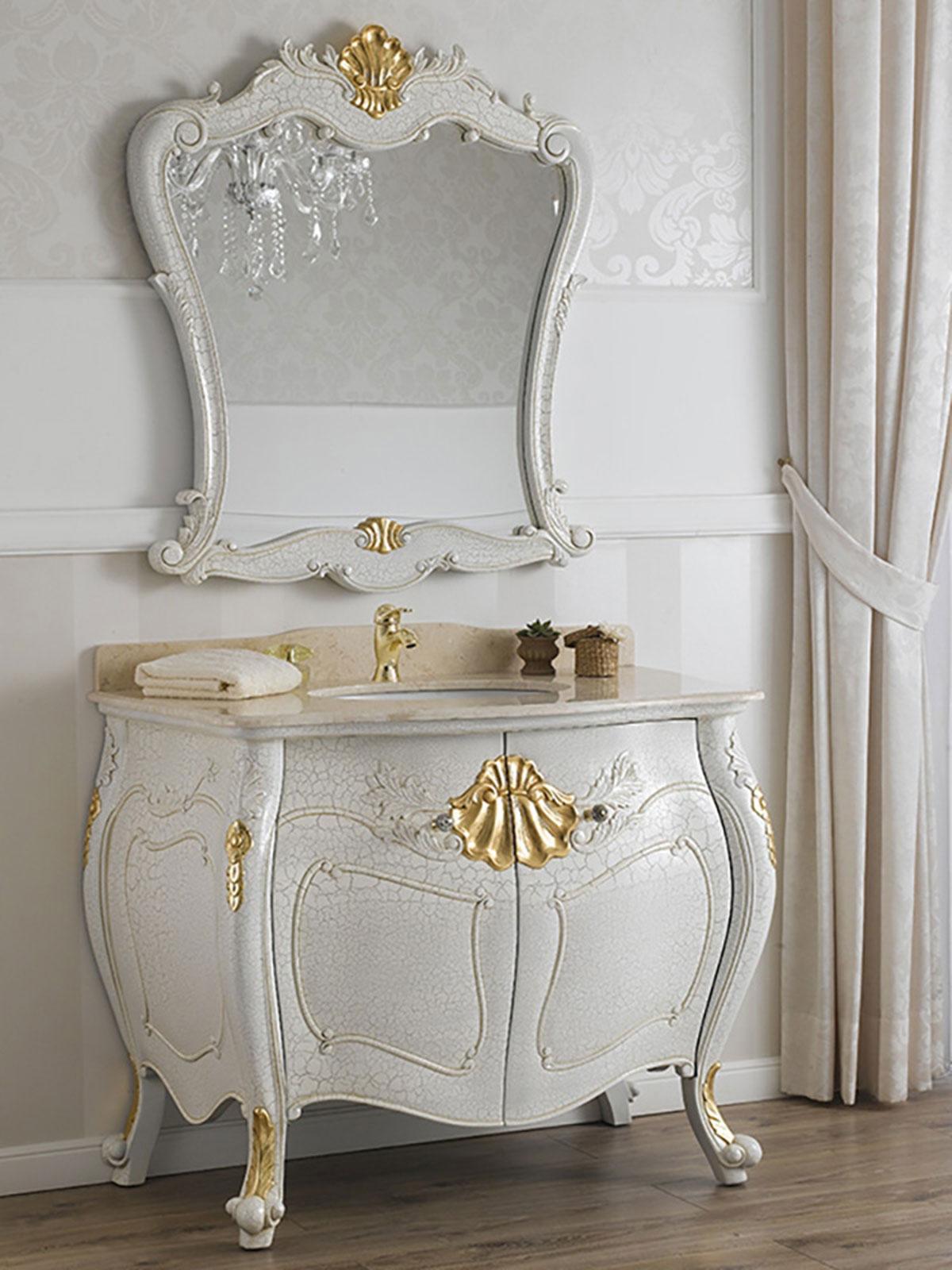 Como e specchio anderson stile barocco veneziano arredo for Arredo bagno provincia como