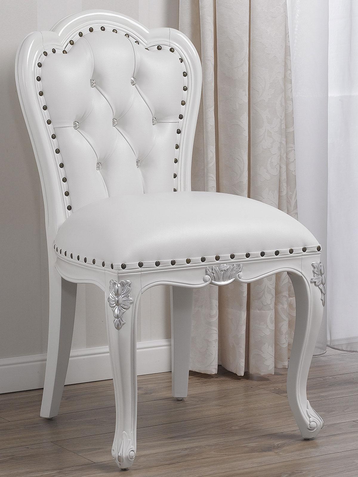 Poltrona Josephine stile Barocco Moderno bianco laccato e ...
